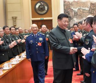 习近平出席解放军和武警部队代表团全体会议